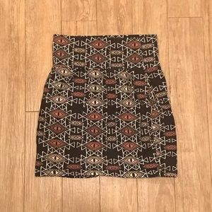 Charlotte Russe Patterned Pencil Skirt